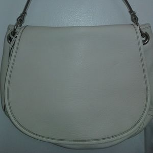 Banana Republic Italian Leather Winter White Bag
